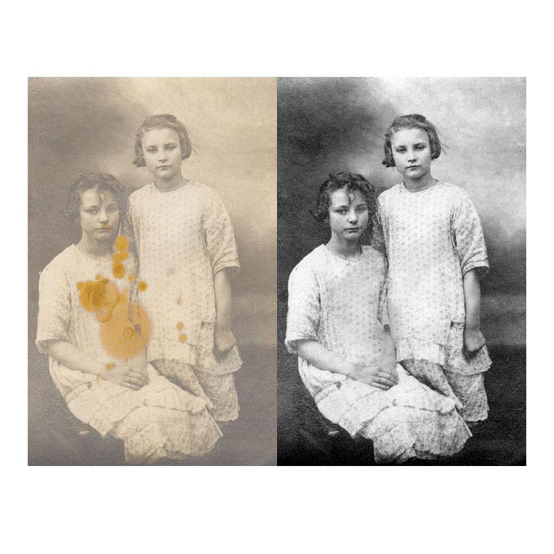 Retuširanje starih fotografija Foto Ivica