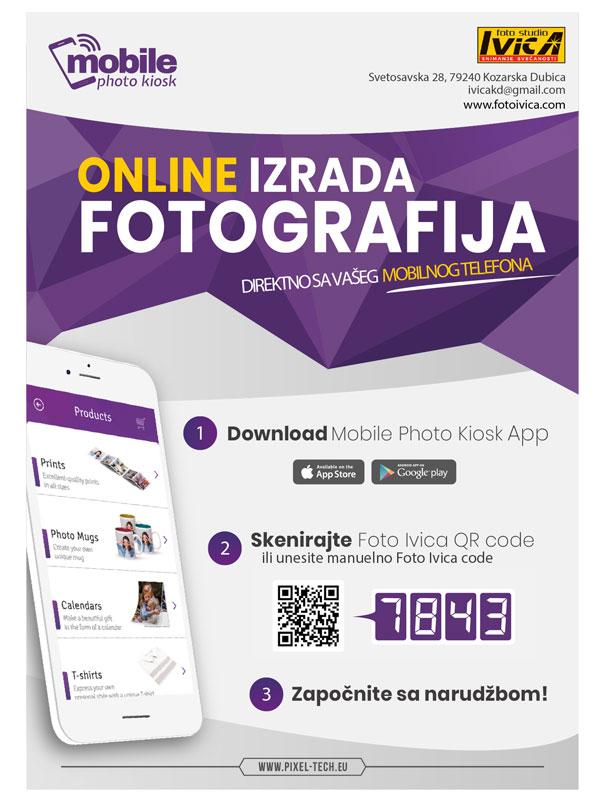 Mobile Photo Kiosk App instrukcije